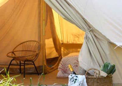 Bell tent inrichting