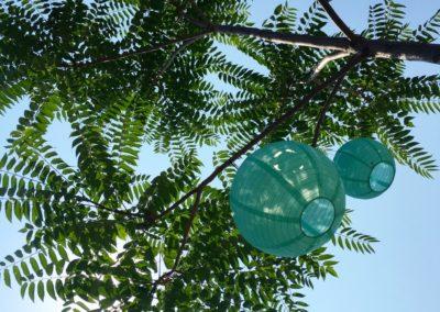 Fortuna Verde lampen in de tuin