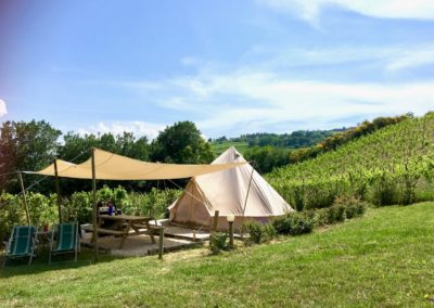 Bell-tent bij Fortuna Verde