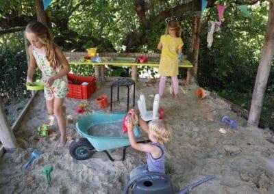 Spelen in de zandbak